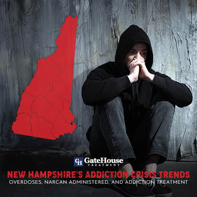 New Hampshire's Addiction Crisis Trends: Overdoses, Narcan Administered, and Addiction Treatment Broken Down by Individual Counties 1